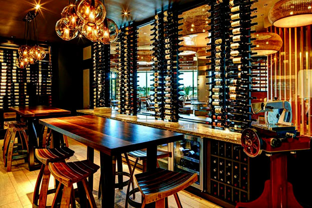One of the private dining rooms at Marina Kitchen