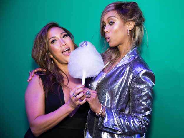 Carrie Ann Inaba and Tyra Banks