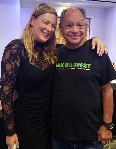 Cheech Marin and Secret Room Co-Founder Rita Branch