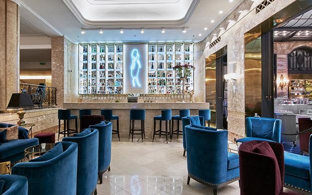 The Grand Hotel Oslo lobby bar