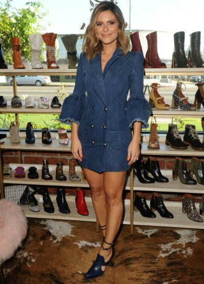 "Maria Menounos in Jaclyn Jones USA ""Jasmine"" heels (retail $1250)"