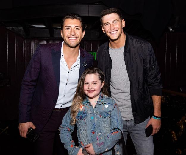 Jason Tartick and Blake Horstmann with Miracle Kid Chloe--BrianaHodge