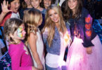 Paris Hilton with Miracle Kid Sasha Bogosian and guests--Photo: Briana Hodge