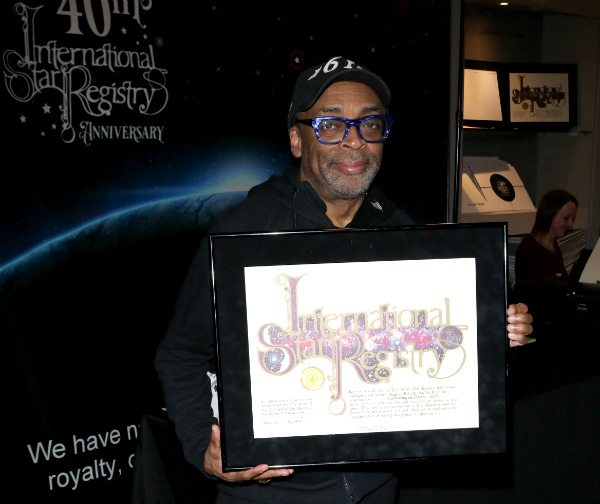 Have you had a star named after you? Spike Lee with Star Registry