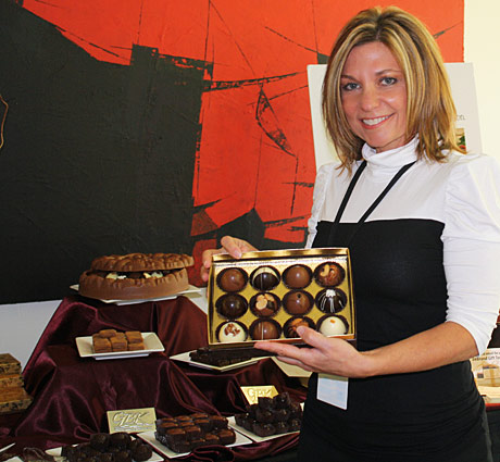 DeBrand President and founder Cathy Brand-Beere with her amazingly delicious Truffle Collection.