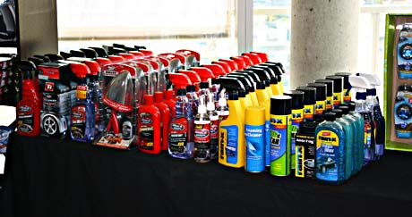 Just a few of the many products on display